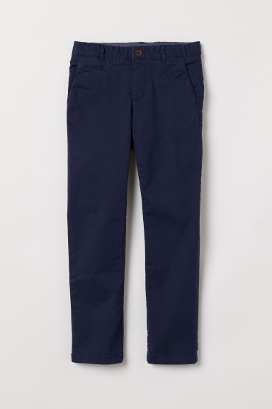 Chinos - Dark blue - Kids | H&M CN
