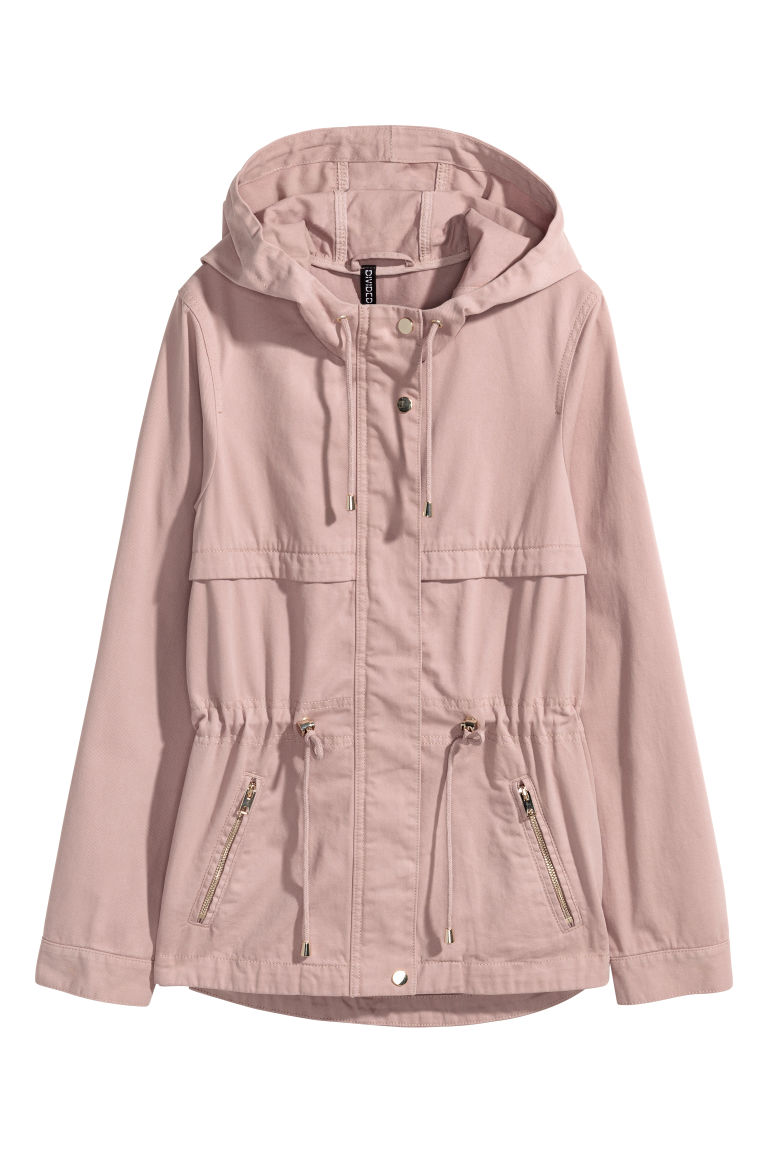 Short parka with a hood - Antique rose -  | H&M