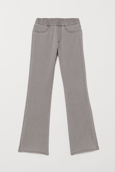 Flared twill trousers - Light grey - Kids | H&M CN