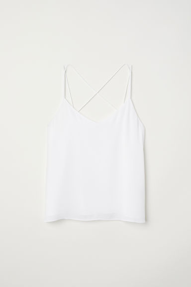 Top in chiffon - Bianco - DONNA | H&M IT