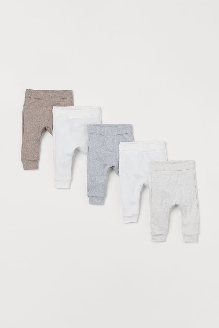 5-pack jersey trousers - Beige marl - Kids | H&M