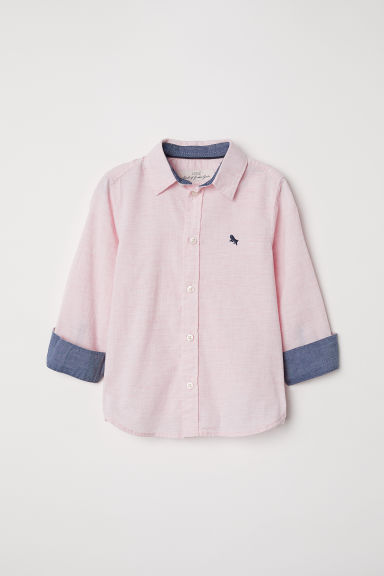 Cotton shirt - Light pink marl -  | H&M CN