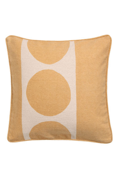 Cushion cover with piping - Yellow/Natural white -  | H&M CN