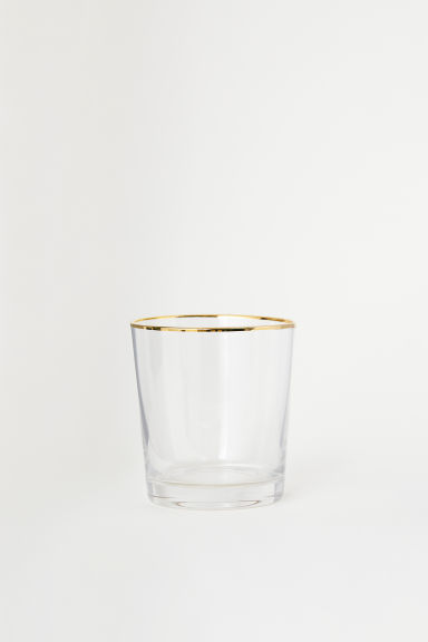 Tumbler - Clear glass/Gold-coloured - Home All | H&M CN