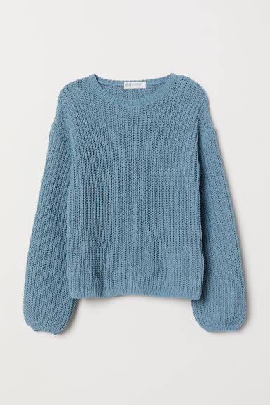 Chunky-knit jumper - Turquoise - Kids | H&M