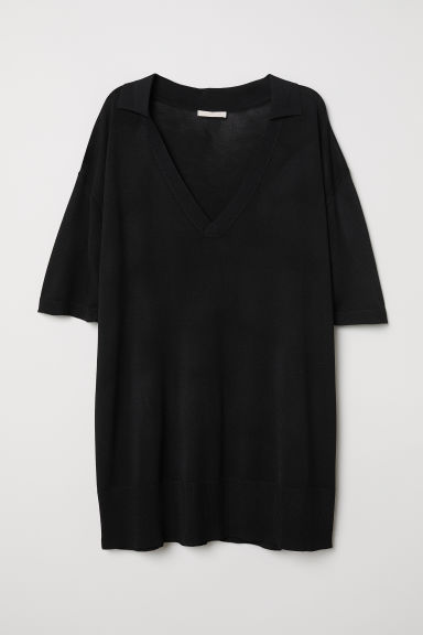V-neck top - Black - Ladies | H&M CN