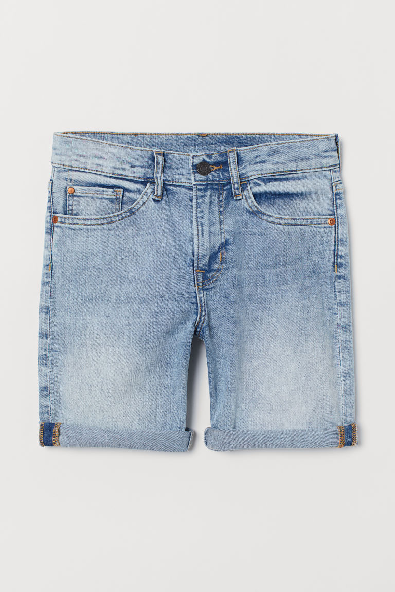 Denim shorts Slim Fit - Light denim blue - Kids | H&M