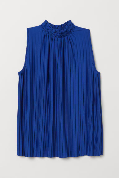 Pleated top - Cornflower blue - Ladies | H&M