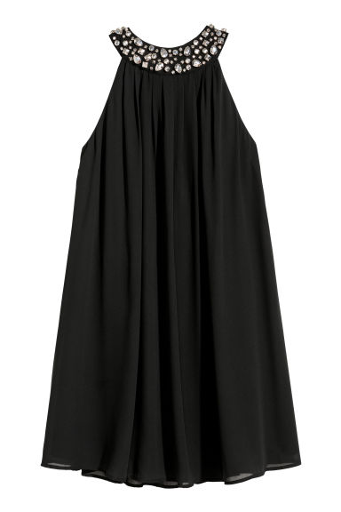 Halterneck dress with sparkles - Black - Ladies | H&M