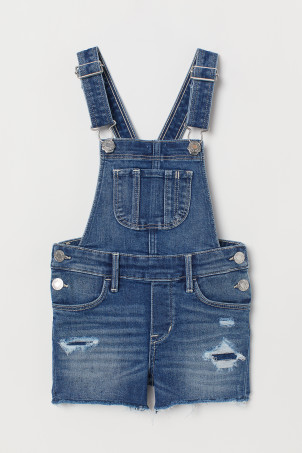 254a72d2b1 Denim blue · Bib Overall Shorts