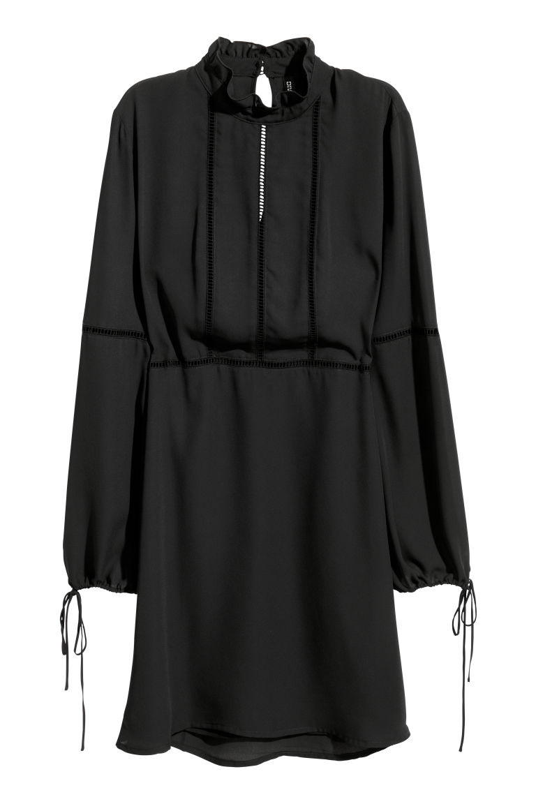 Abito in chiffon - Nero - DONNA | H&M IT