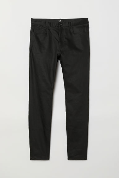 Coated Skinny Jeans - Black - Men | H&M