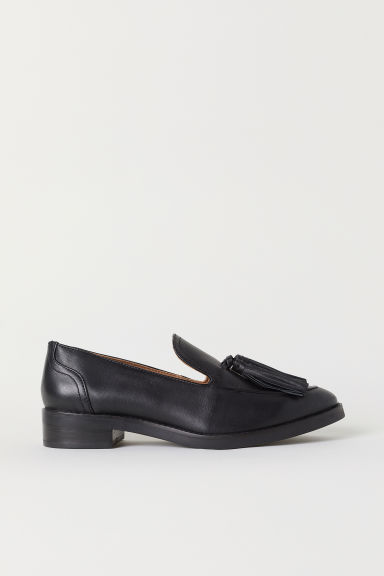 Mocassini in pelle - Nero - DONNA | H&M IT