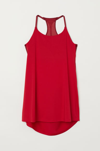 Sports top with sports bra - Red - Ladies | H&M