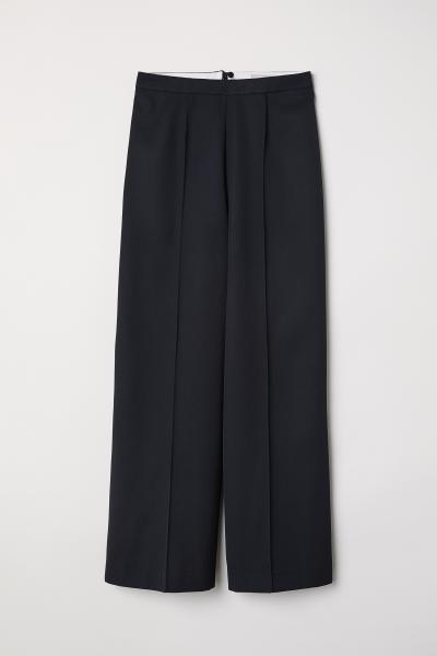 H&M - Pantalón amplio con lana - 1