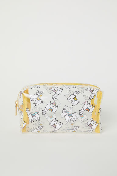 Transparent make-up bag - Yellow/Llamas -  | H&M CN
