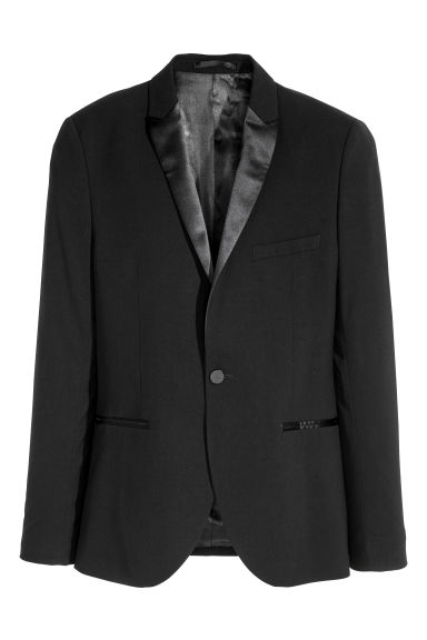 Tuxedo jacket Slim fit - Black - Men | H&M