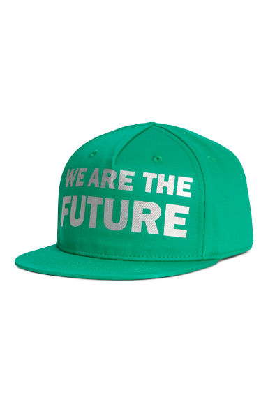 Printed cap - Green - Kids | H&M IE