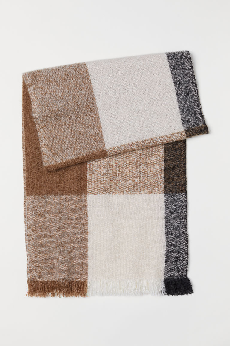 Color-block Scarf - Beige/black - Ladies | H&M US