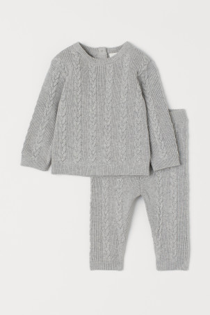 Cable-knit Sweater and Pants