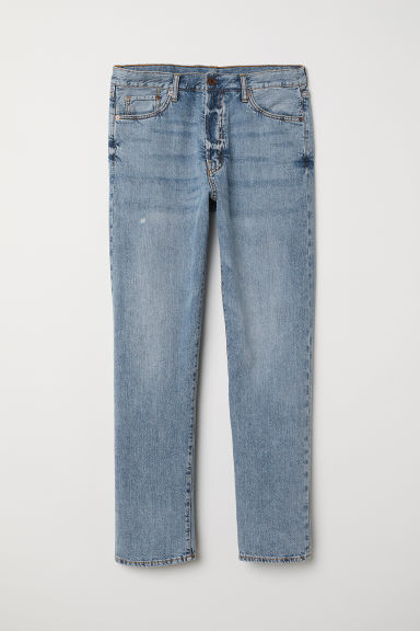 Straight Jeans - Light denim blue - Men | H&M CN