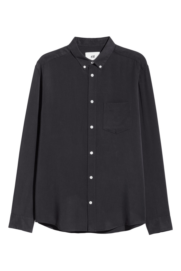 Lyocell shirt - Black - Men | H&M