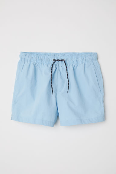 Short swim shorts - Light blue - Men | H&M CN