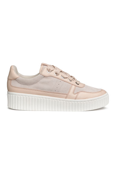 Leather and suede trainers - Powder pink - Ladies | H&M IE
