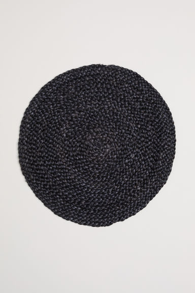 Round jute table mat - Anthracite grey - Home All | H&M CN