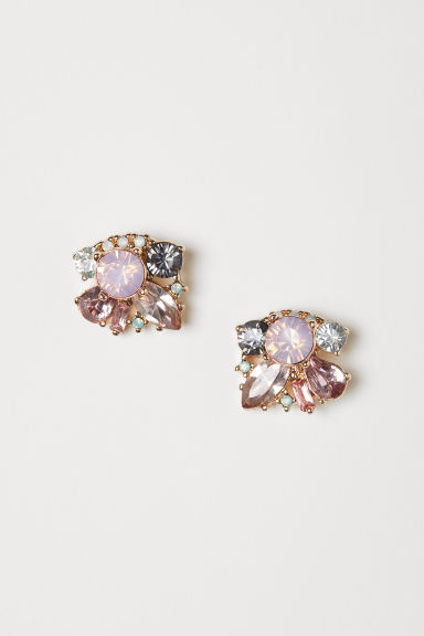 Earrings - Gold-coloured/Light pink - Ladies | H&M