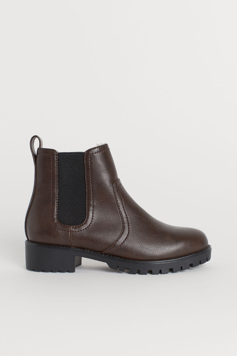 Warm-lined Chelsea boots - Dark brown - Ladies | H&M