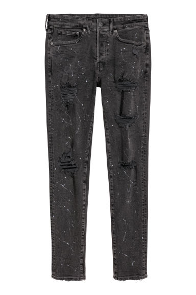 Skinny Jeans - Black denim/Trashed -  | H&M