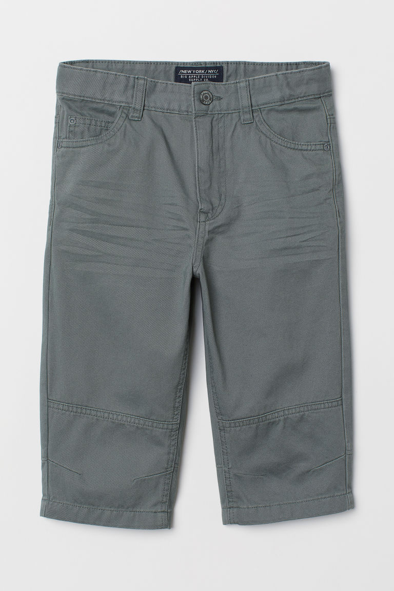 Clamdiggers - Khaki green - Kids | H&M