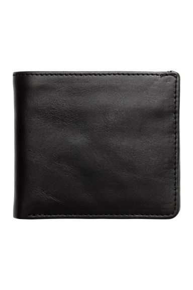 Leather wallet - Black -  | H&M