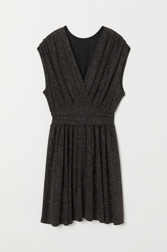 e0c099939136 Kort kjole - Sort Glitrende - DAME