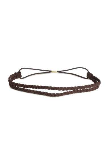 Braided hairband - Brown -  | H&M