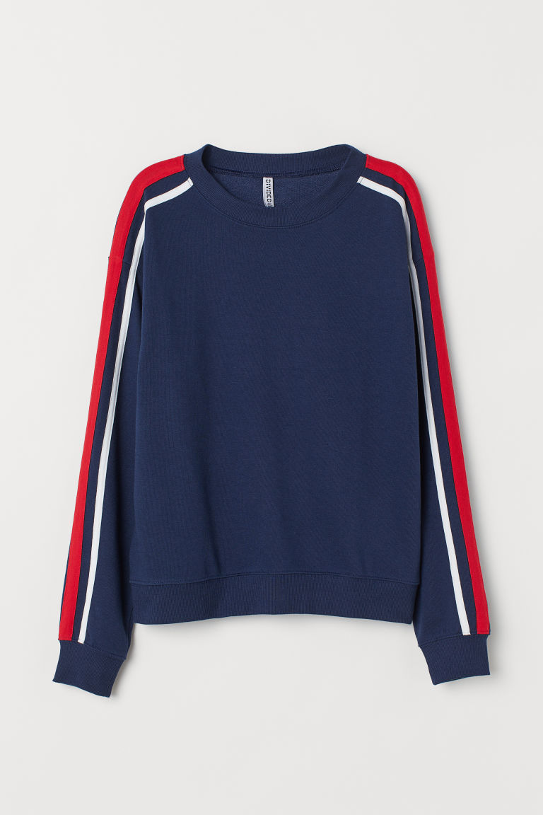 Sweatshirt - Dark blue -  | H&M CN