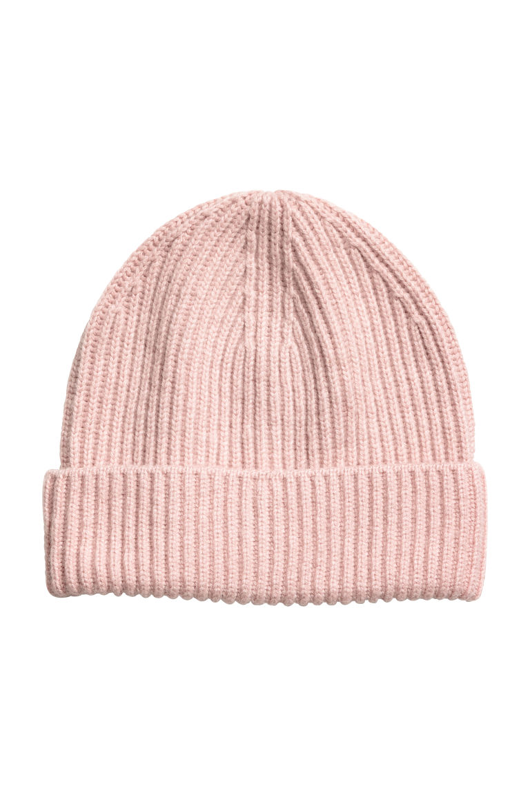 Ribbed hat - Powder pink - Ladies | H&M CN