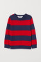 Dark blue/Red striped