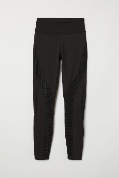 Leggings sport Shaping waist - Nero - DONNA | H&M IT