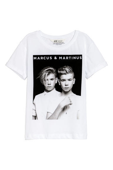 Printed T-shirt - White/Marcus & Martinus -  | H&M IE