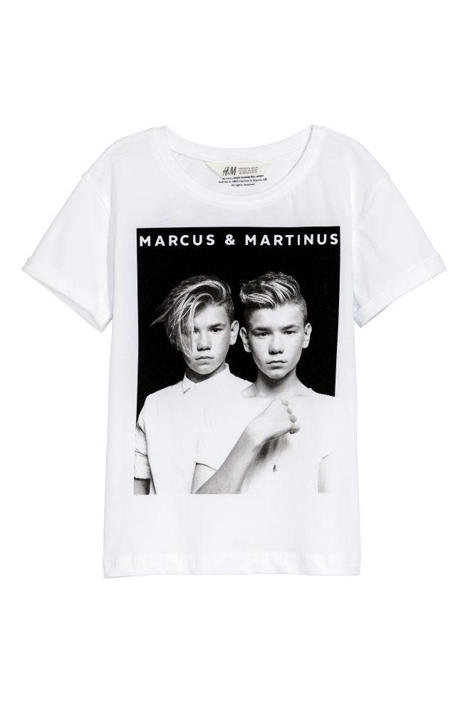 T Shirt Mit Druck Weißmarcus Martinus Kids Hm De