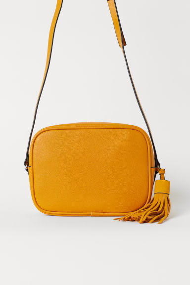 Shoulder bag with suede tassel - Yellow - Ladies | H&M GB
