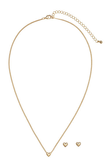 Necklace and studs - Gold-coloured -  | H&M IE