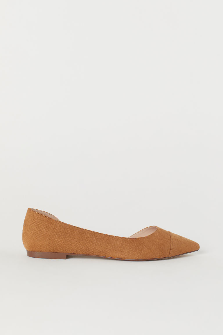 Pointed ballet pumps - Light brown - Ladies | H&M