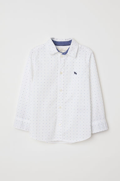 Cotton shirt - White/Spotted - Kids | H&M