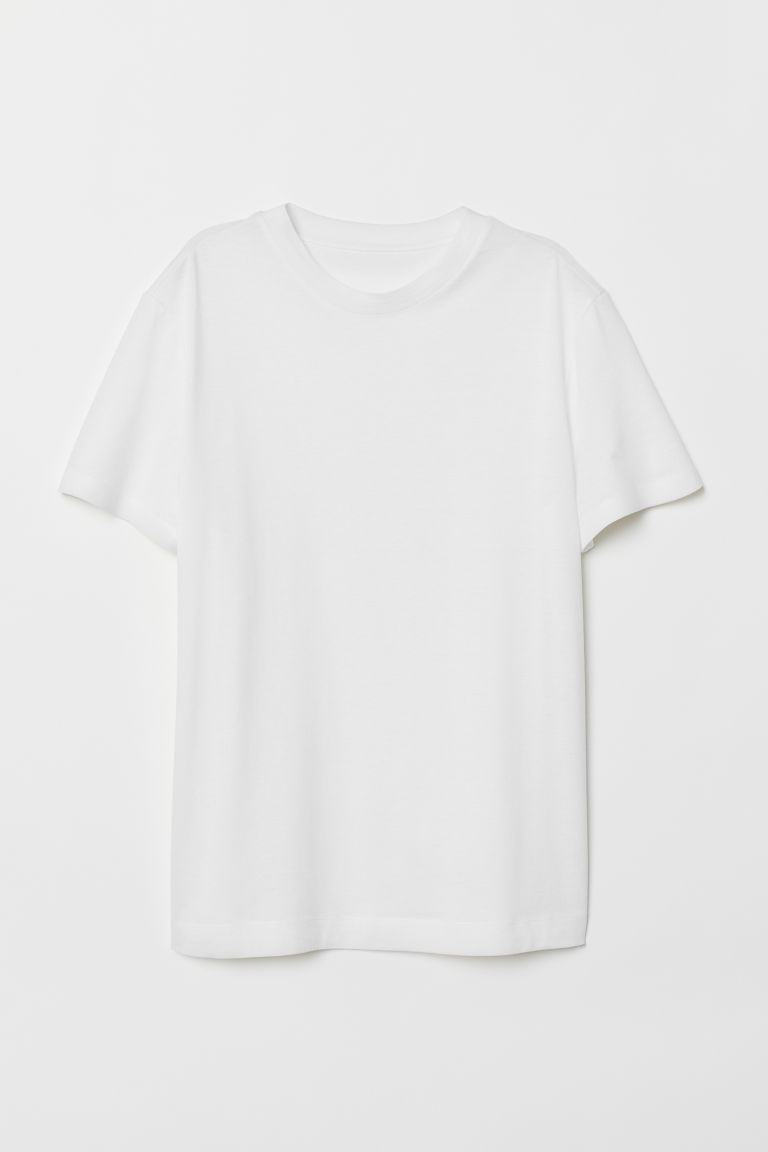 Pima Cotton T-shirt - White - Ladies | H&M US