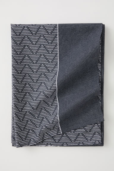 Patterned cotton tablecloth - Dark grey/Patterned - Home All | H&M CN
