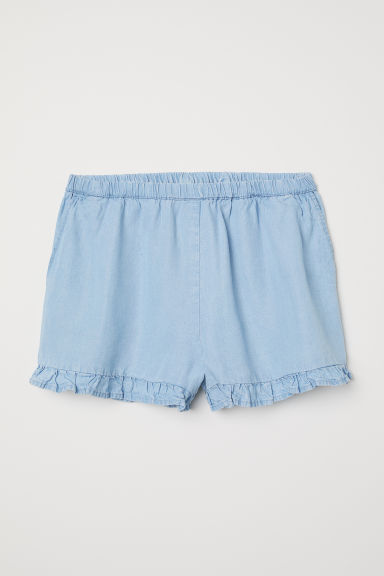 Lyocell shorts - Light blue - Ladies | H&M CN