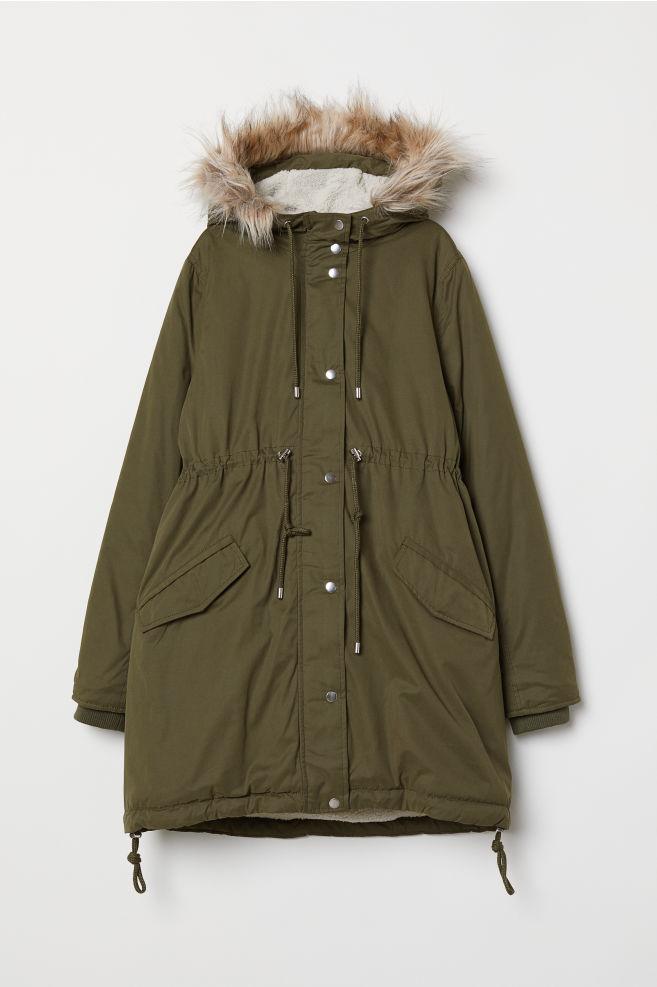 63bb5e9c3c777 MAMA Padded Parka - Khaki green - Ladies